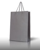 Gray paper bag Stock Photos
