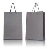 Gray paper bag Stock Image