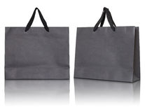 Gray paper bag Royalty Free Stock Images