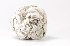 Gray paper balls selective focus with shallow depth of field Royalty Free Stock Image
