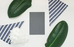 Gray paper card. Royalty Free Stock Photos