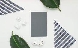 Gray paper card. Stock Photos