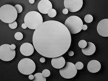 Gray Paper-cirkelbanner met dalingsschaduwen Royalty-vrije Stock Foto's