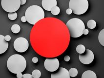 Gray Paper-cirkelbanner met dalingsschaduwen Stock Afbeelding