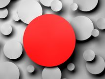 Gray Paper-cirkelbanner met dalingsschaduwen Stock Fotografie