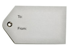 Gray Paper Gift Tag Royalty Free Stock Images
