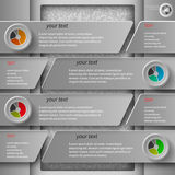 Gray paper infographics1 Stock Images