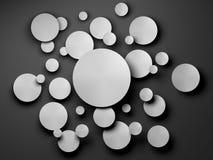 Gray Paper-Kreisfahne mit Schlagschatten Lizenzfreies Stockbild