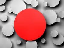 Gray Paper-Kreisfahne mit Schlagschatten Stockfotografie