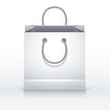 Gray paper shopping bag. Stock Images
