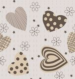 Gray patterned heart Royalty Free Stock Photography