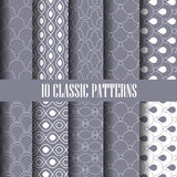 Gray patterns Royalty Free Stock Image
