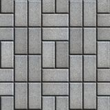 Gray Pave Slabs Rectangles Laid out in a Chaotic Stock Photo
