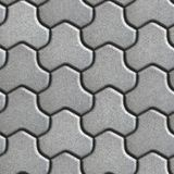 Gray Pavement of Combined Hexagons Stock Photo