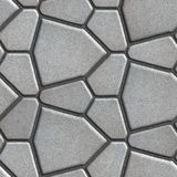 Gray Pavement - Different Size of Polygons Stock Photography