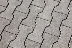 Grey pavement. Driveway and sidewalks from gray pavement Stock Photography