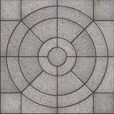 Gray Pavement Slabs in the Form of Circles. Stock Photography