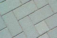Gray paving bricks Stock Photos
