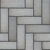 Gray Paving Slabs as Parquet Stock Photography