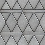 Gray Paving Slabs Built of Rhombuses and Royalty Free Stock Photo
