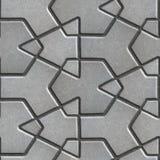 Gray Paving Slabs Built von gekreuzten Stücken a Stockfoto