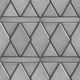 Gray Paving Slabs Built von Rauten und Lizenzfreies Stockfoto