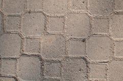 Gray Paving Slabs, couverture de trottoir Texture sans joint de Tileable Photos libres de droits
