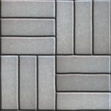Gray Paving Slabs de los rectángulos presentados en tres imagen de archivo