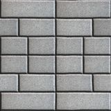 Gray Paving Slabs in the Form Rectangles of Royalty Free Stock Photography