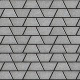 Gray Paving Slabs in the Form Trapezoids Stock Image