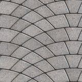 Gray Paving Slabs Laid as Semicircle. Seamless Tileable Texture Stock Photography