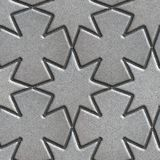 Gray Paving Slabs Laid in the Form of Stars and Royalty Free Stock Image
