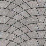 Gray Paving Slabs Laid som halvcirkel Arkivbild