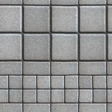 Gray Paving Slabs Lined avec des places de différent Photographie stock