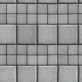 Gray Paving Slabs Lined with Squares of Different Stock Image