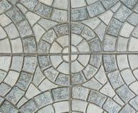 Gray Paving Slabs - modell av cirkeln royaltyfri bild