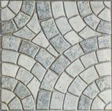 Gray Paving Slabs - modello del cerchio fotografie stock