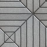 Gray Paving Slabs Rectangles of Varying Lengths Stock Image