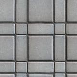 Gray Paving Slabs - små fyrkanter och rektanglar Arkivbild
