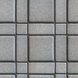 Gray Paving Slabs - Small Squares and Rectangles Stock Photography