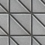 Gray Paving Slabs - Square consisting of Triangles Royalty Free Stock Photo