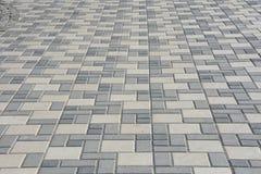 Gray paving slabs Royalty Free Stock Photo