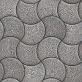 Gray Paving Stone no formulário ondulado Fotografia de Stock Royalty Free
