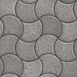 Gray Paving Stone in Wavy Form. Royalty Free Stock Photography