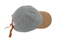 Gray peaked cap Royalty Free Stock Photography