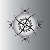 Gray pentagram Stock Photo