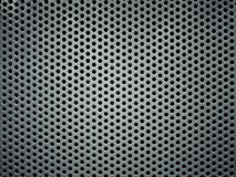 Gray perforated metal background texture Stock Photography