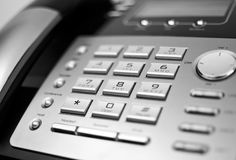 Gray phone Royalty Free Stock Photos