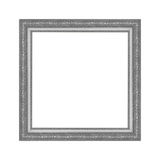 Gray picture frame isolated on white background. Stock Photos