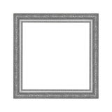 Gray picture frame isolated on white background. Royalty Free Stock Image